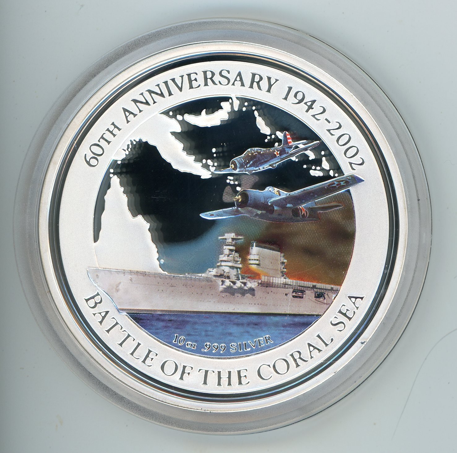 Thumbnail for 2002 Cook Islands 10oz Silver Proof In Capsule .999