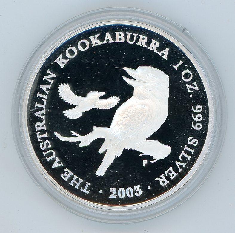 Thumbnail for 2003 1oz Australian Kookaburra .999 Silver