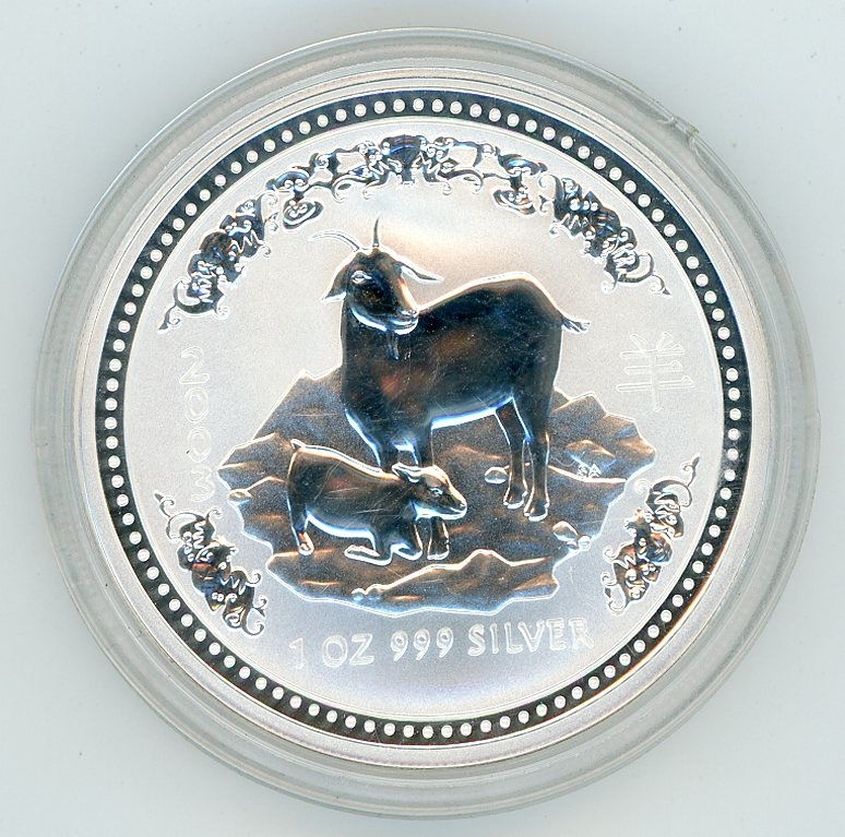 Thumbnail for 2003 1oz Lunar Year of the Goat Series 1