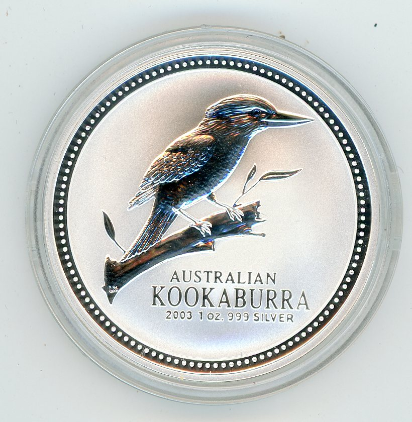 Thumbnail for 2003 1oz Silver Kookaburra .999 Silver