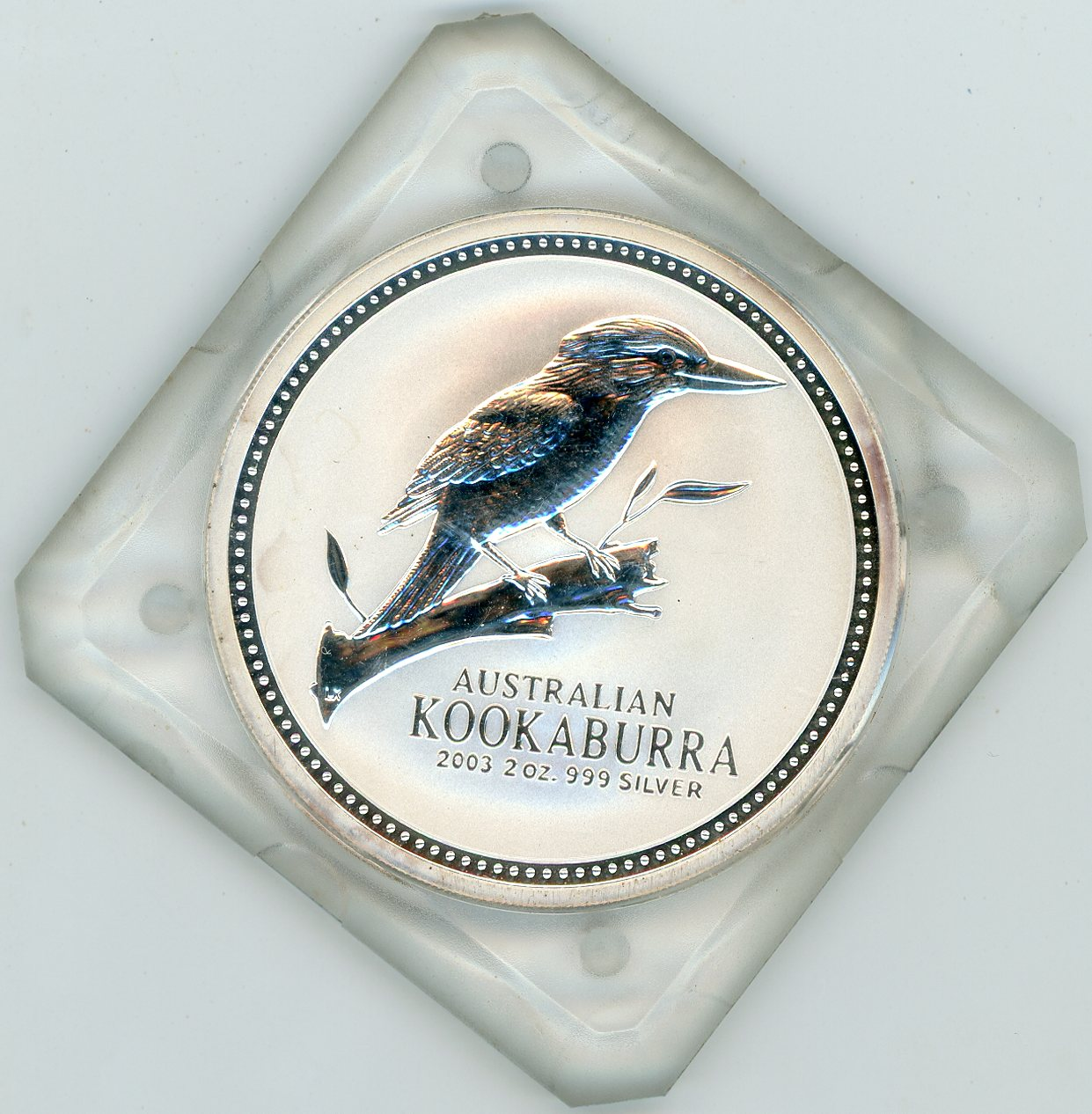Thumbnail for 2003 2oz Kookaburra .999 Silver - Square Slab