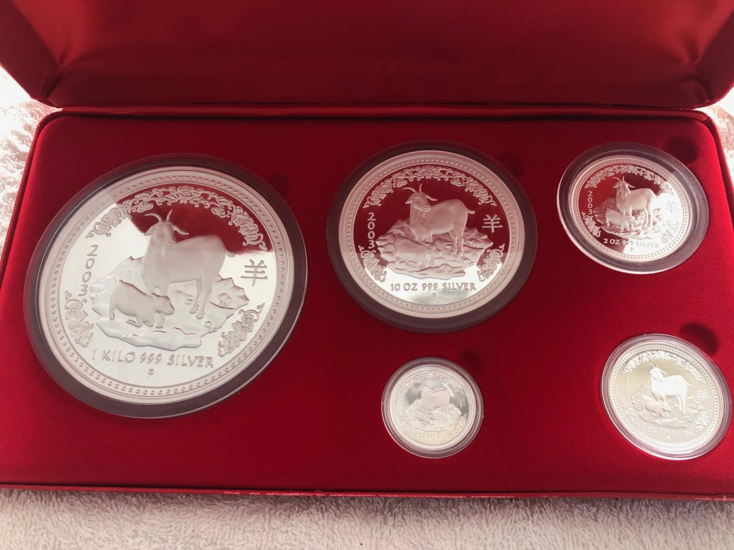 Thumbnail for 2003 Year of the Goat 5 Coin Proof Collection 45.65 oz