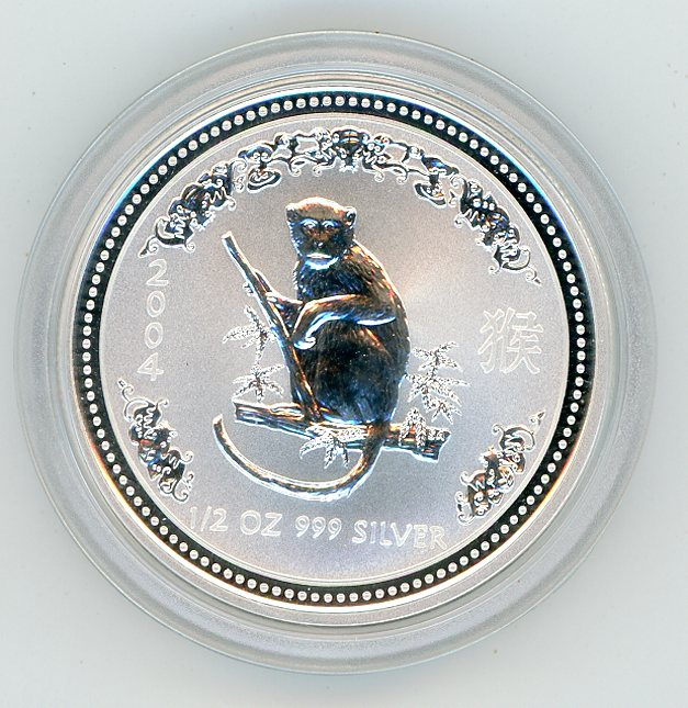 Thumbnail for 2004 Half oz Lunar Year of the Monkey Series 1