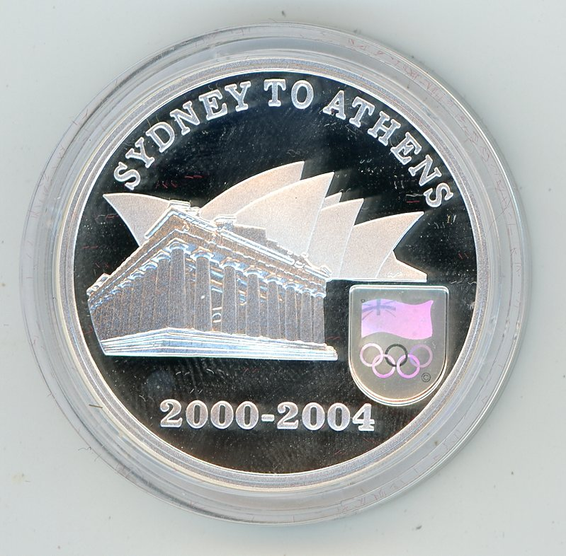 Thumbnail for 2004 Sydney to Athens $5 Coin in Capsule Only