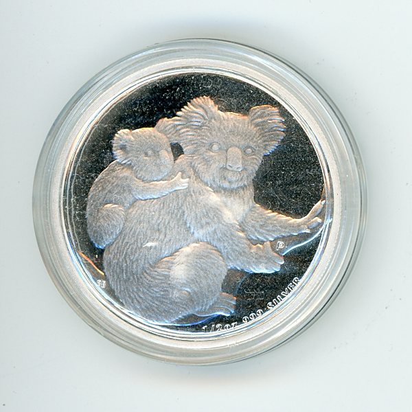 Thumbnail for 2008 Half oz Koala .999 Silver