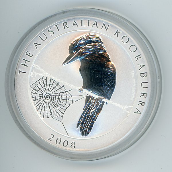 Thumbnail for 2008 1oz Kookaburra .999 Silver
