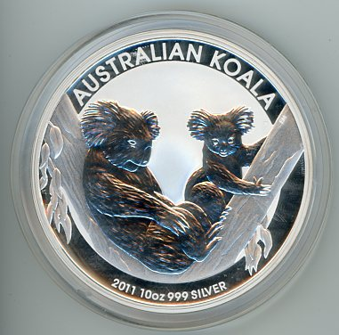 Thumbnail for 2011 10oz Koala .999 Silver