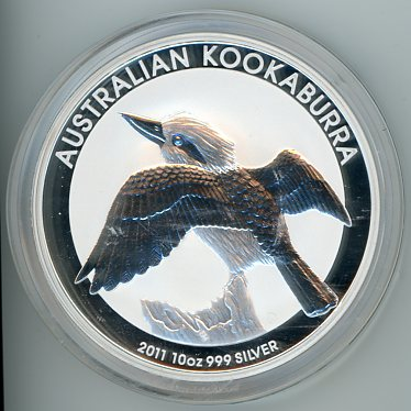 Thumbnail for 2011 10oz Kookaburra .999 Silver