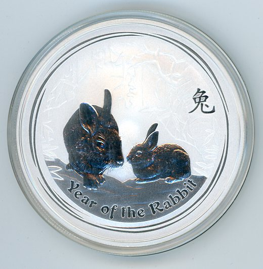Thumbnail for 2011 Two oz Year of the Rabbit .999 Silver