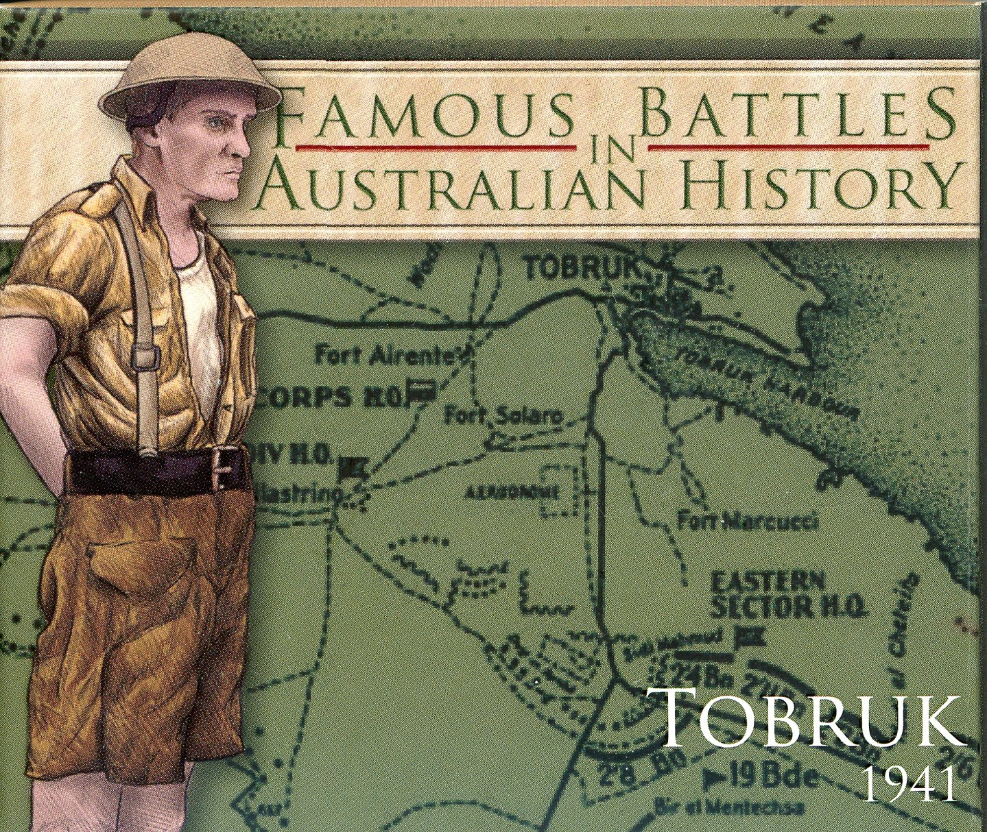 Thumbnail for 2011 1oz Coloured Silver Proof Famous Battles in History - Tobruk