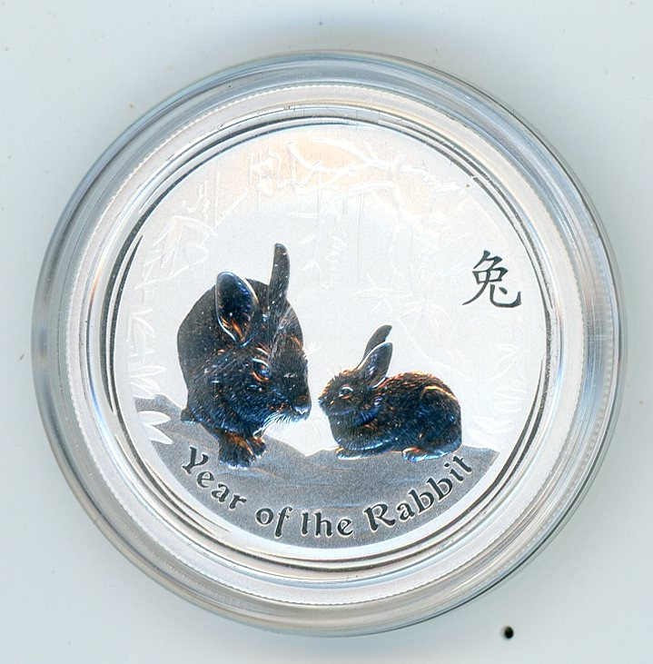 Thumbnail for 2011 Half oz Silver Year of the Rabbit