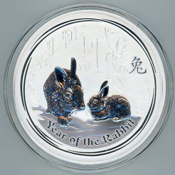 Thumbnail for 2011 One Kilo Year of the Rabbit .999 Silver
