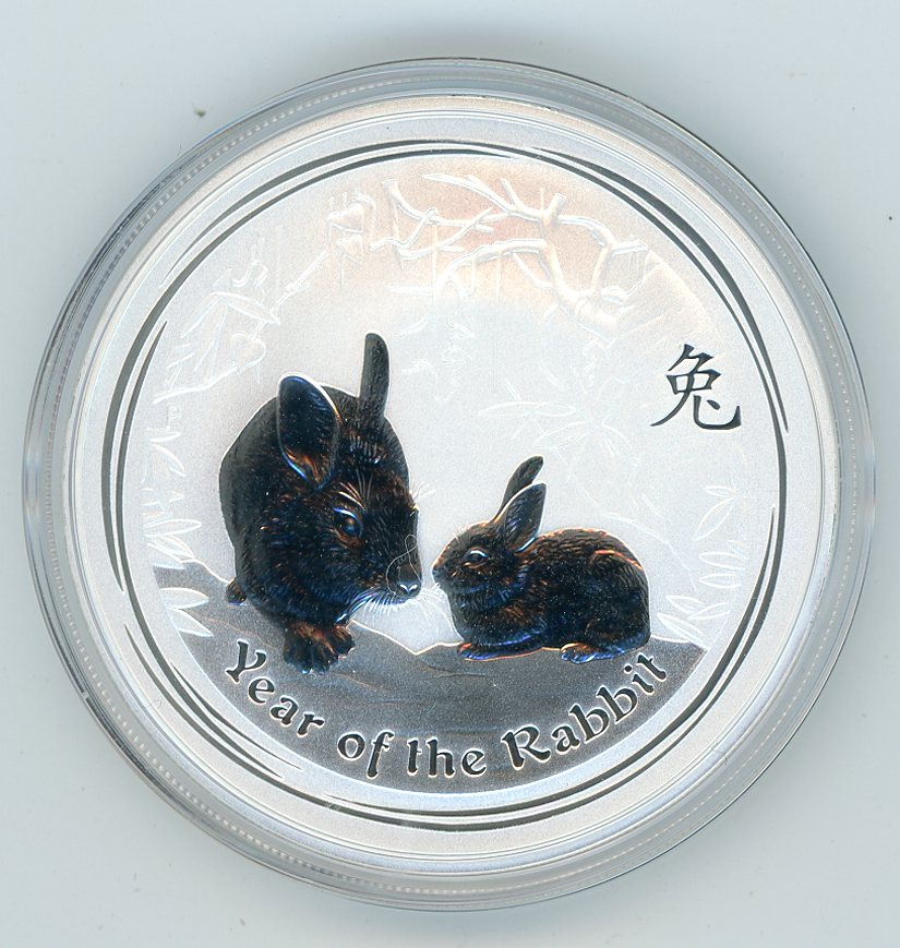 Thumbnail for 2011 One oz Silver Year of the Rabbit
