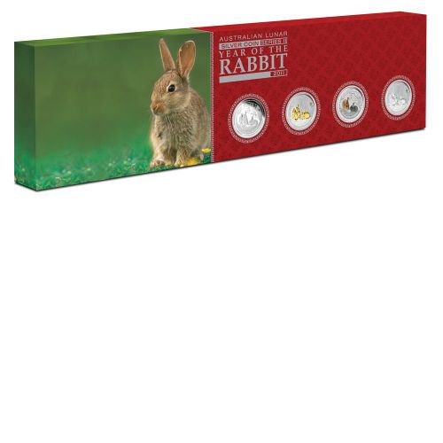 Thumbnail for 2011 Year of the Rabbit - Four Coin Set