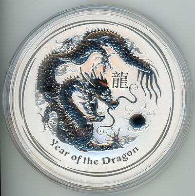 Thumbnail for 2012 10oz Lunar Year of the Dragon .999 Silver