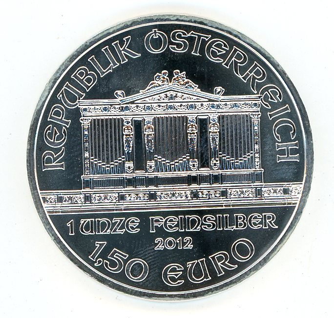 Thumbnail for 2012 Austrian 1oz Philharmiker .999 Silver