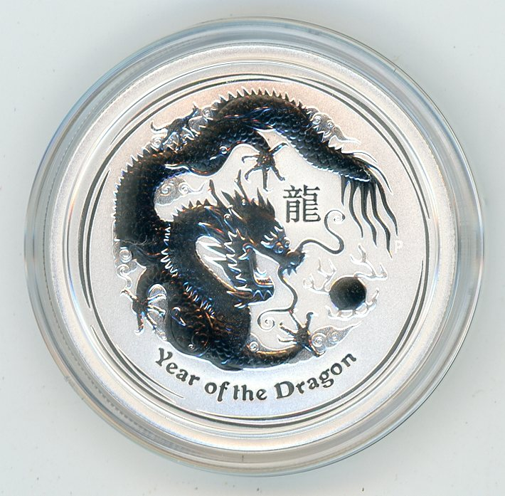 Thumbnail for 2012 Half oz Silver Year of the Dragon