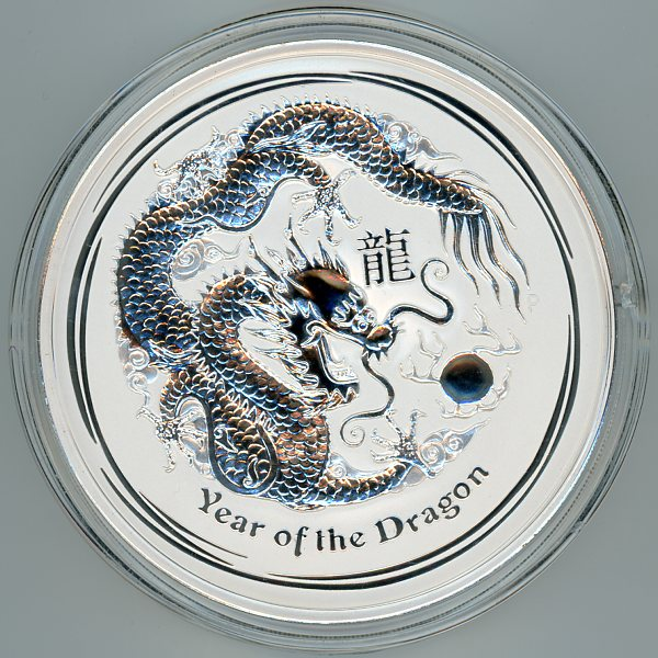 Thumbnail for 2012 One Kilo Year of the Dragon .999 Silver