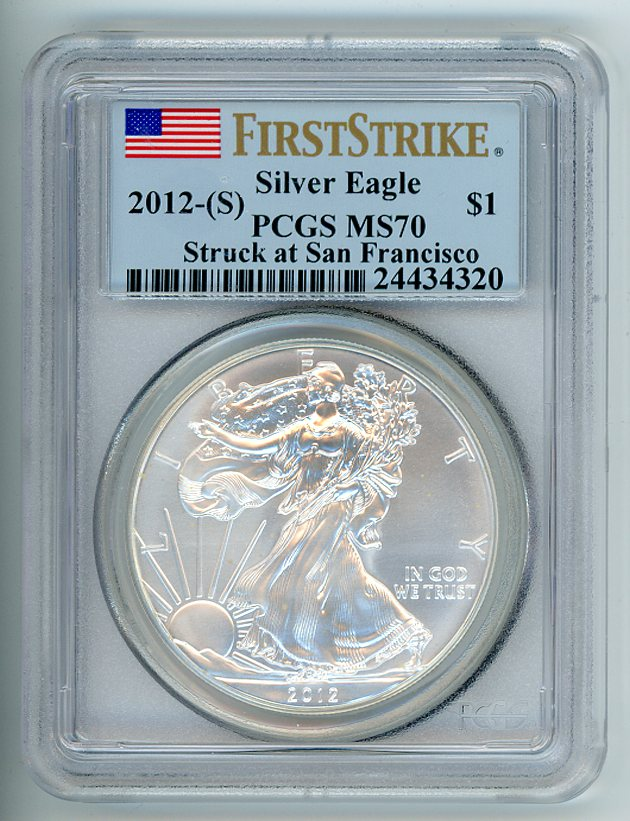 Thumbnail for 2012 USA Silver Eagle First Strike Slabbed PCGS MS70