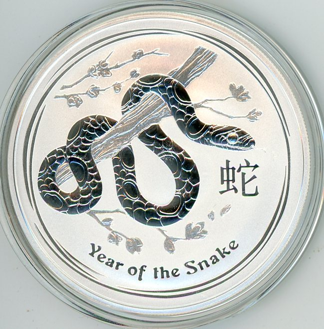 Thumbnail for 2013 One oz Silver Year of the Snake