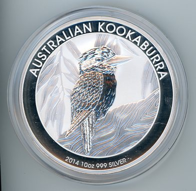 Thumbnail for 2014 10oz Kookaburra .999 Silver
