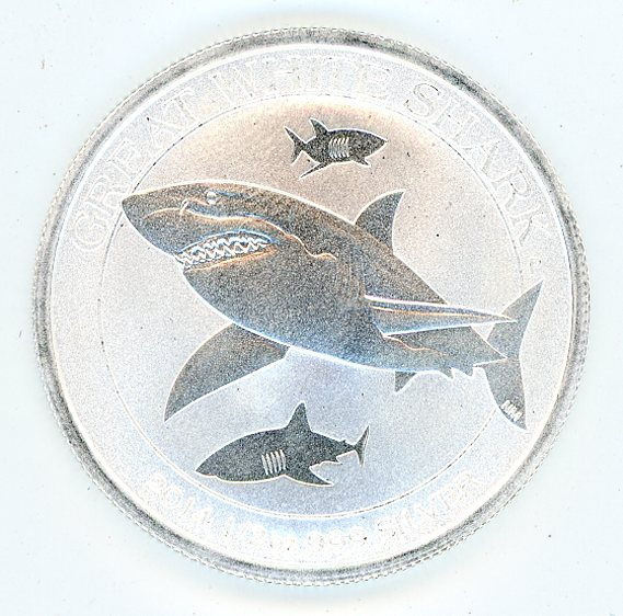 Thumbnail for 2014 Australian Half oz Great White Shark