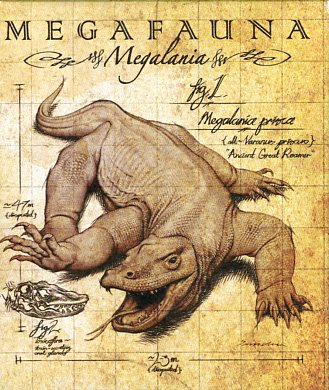 Thumbnail for 2014 1oz Coloured Silver proof Coin Australian Megafauna - Megalania