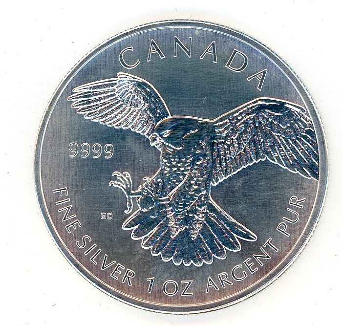 Thumbnail for 2014 Canadian 1oz Peregrine Falcon .999 Silver