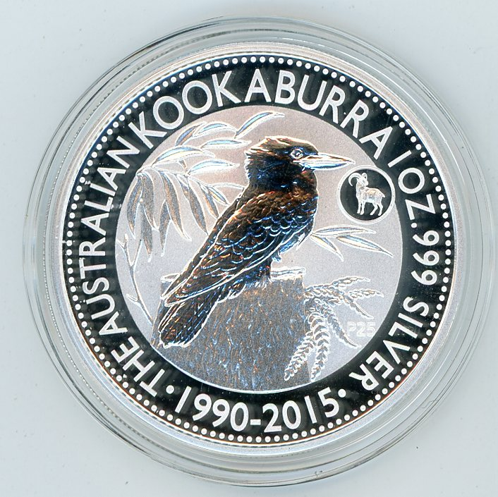Thumbnail for 2015 1oz Australian Silver Kookaburra with Goat Privy