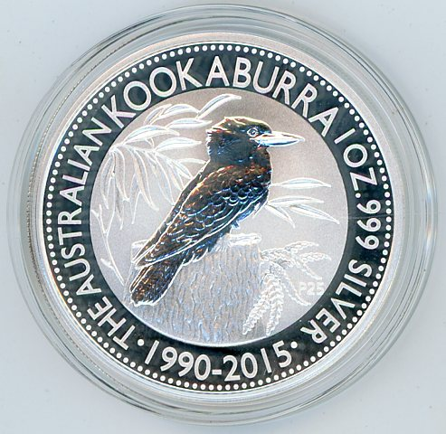 Thumbnail for 2015 1oz Silver Kookaburra 25th Anniversary Issue