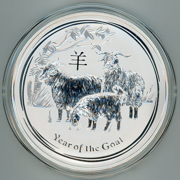 Thumbnail for 2015 One Kilo Year of the Goat .999 Silver