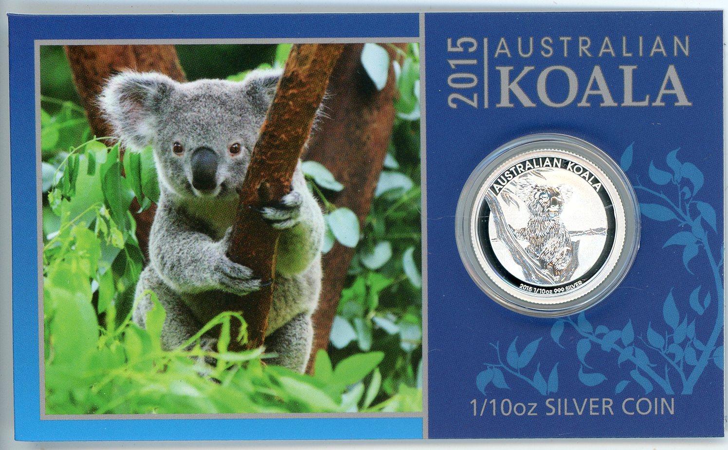 Thumbnail for 2015 One Tenth oz Silver Koala