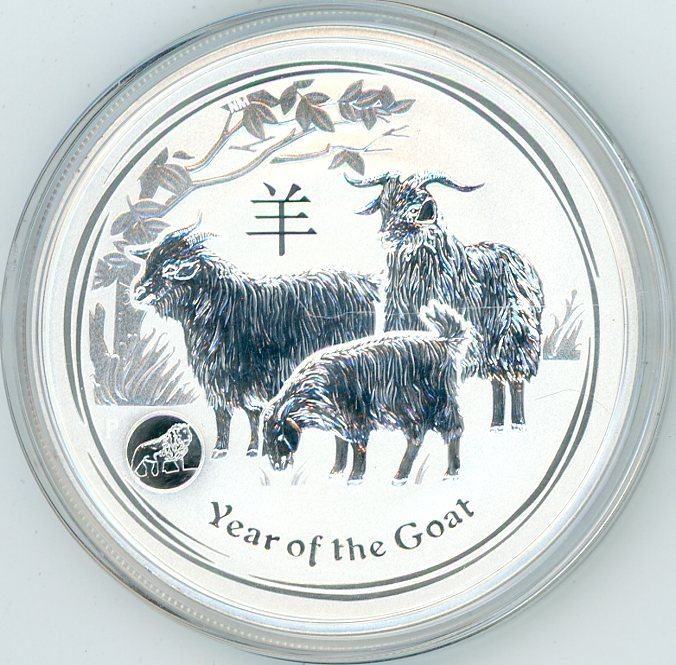 Thumbnail for 2015 One oz Silver Year of the Goat with Lion Privy Mark