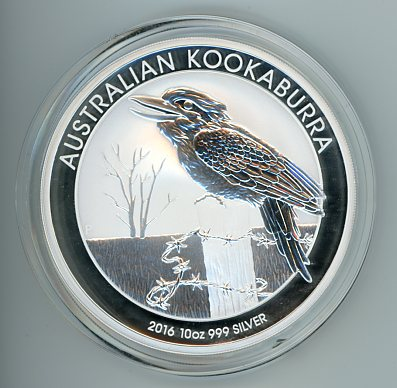 Thumbnail for 2016 10oz Kookaburra .999 Silver