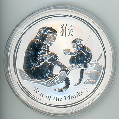 Thumbnail for 2016 10oz Lunar Year of the Monkey .999 Silver