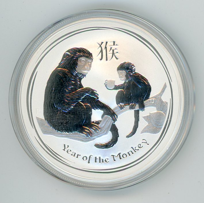 Thumbnail for 2016 1oz silver Year of the Monkey