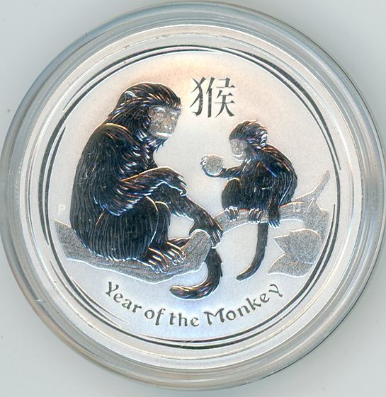 Thumbnail for 2016 Half oz Silver Year of the Monkey