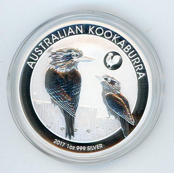 Thumbnail for 2017 Kookaburra Series 1oz .999 - Rooster Privy