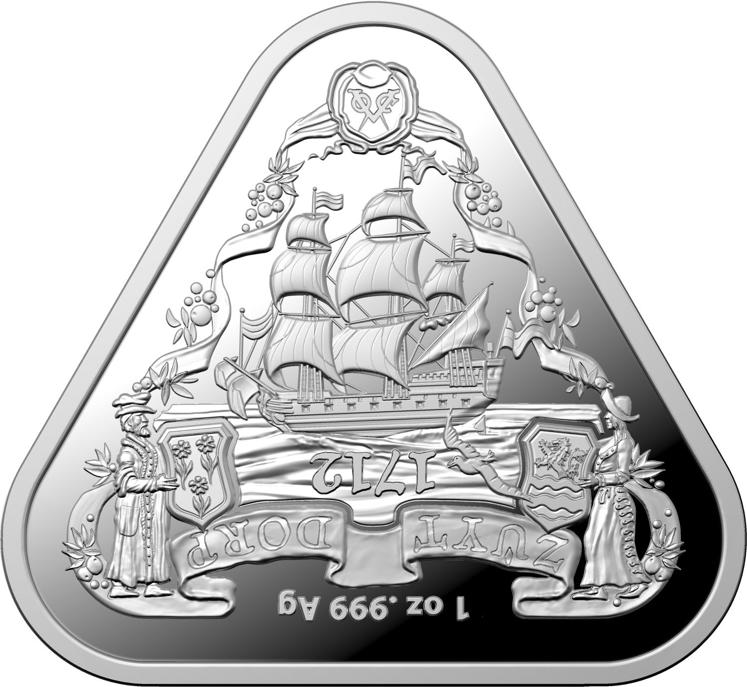 Thumbnail for 2020 1oz Silver Triangular Coin Australian Shipwreck Series - Zuytdorp
