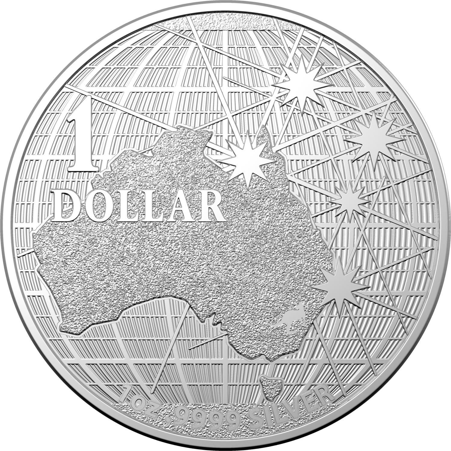 Thumbnail for 2020 $1 Beneath The Southern Skies Silver 99.9%Ag 1oz Brilliant UNC Coin in Capsule - Royal Australian Mint