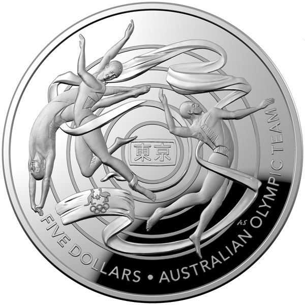 Thumbnail for 2020 $5 1oz Silver Domed Coin - Australian Olympic Team