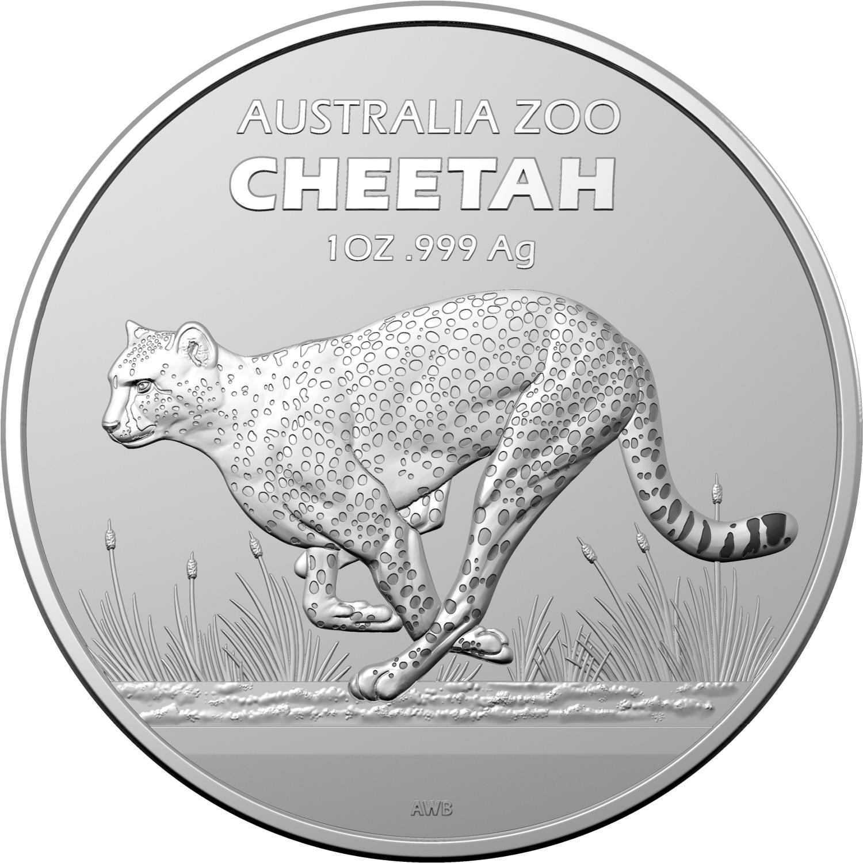 Thumbnail for 2021 Australia Zoo - Cheetah 1oz Silver Bullion Coin