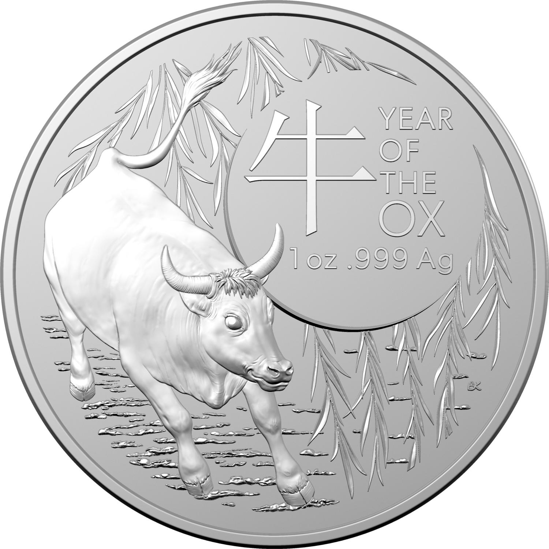 Thumbnail for 2021 Year of the Ox - Royal Australian Mint Bullion Coin in Capsule