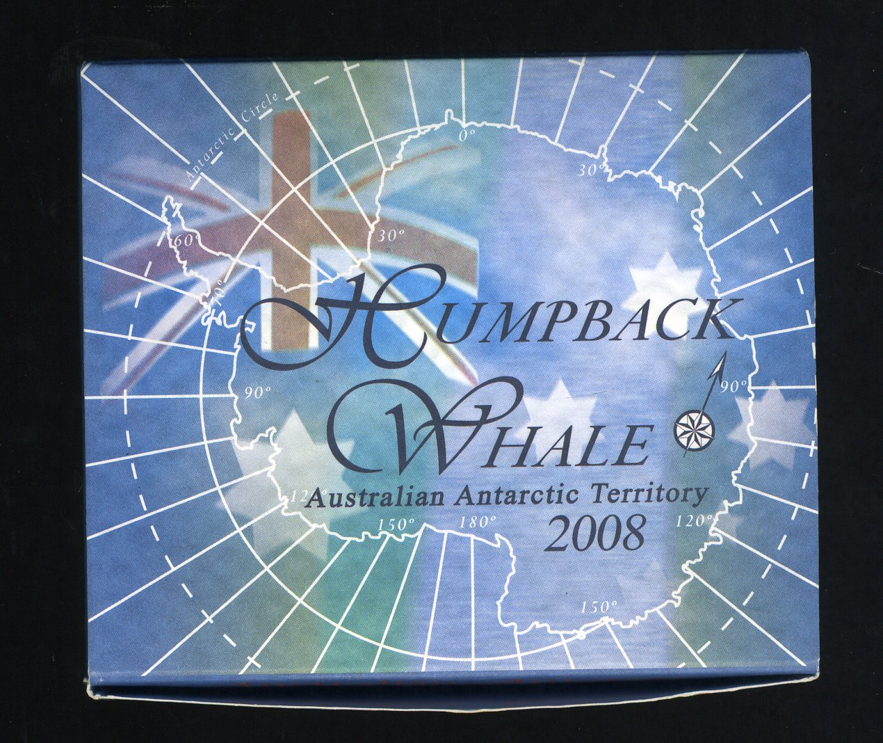 Thumbnail for 2008 1oz Coloured Silver Proof Coin Australian Antartic Territory - Humpback Whale