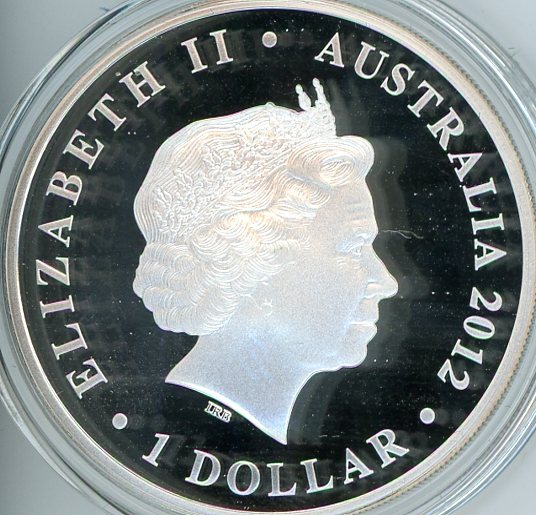 2012 1oz Coloured Silver Proof Famous Battles In History