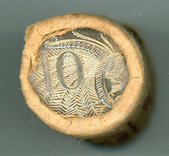 Thumbnail for 1975 Royal Australian Mint Ten Cent Roll