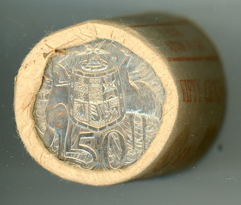 Thumbnail for 1981 Coat of Arms Royal Australian Mint 50c Roll