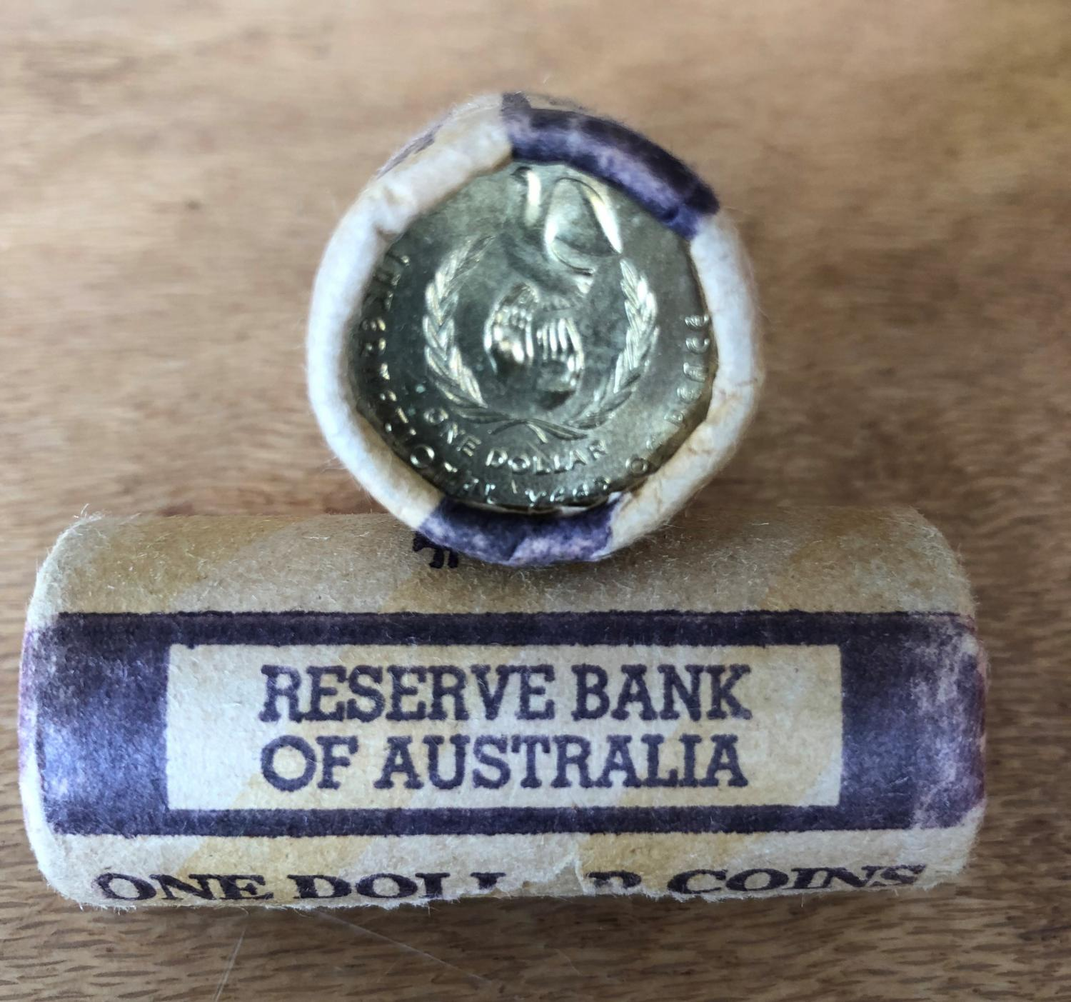 Thumbnail for 1986 Peace One Dollar Coin Roll   Reserve Bank