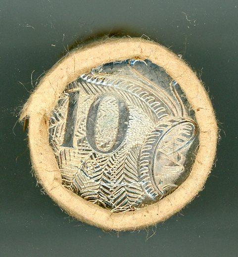 Thumbnail for 1989 Ten Cent Royal Australian Mint Roll   -   T-T