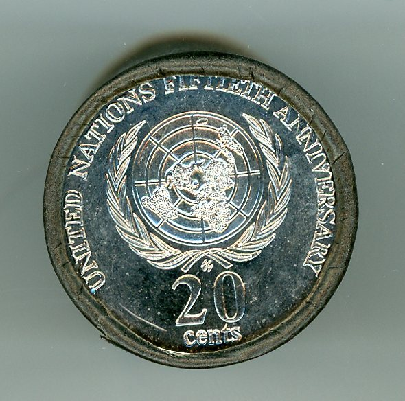 Thumbnail for 1995 United Nations 20c Roll